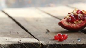 Fruta madura da romã filme