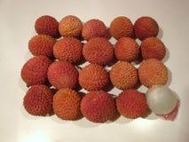 Fruta madura del lychee foto de archivo