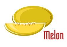 Fruta madura del melón del aroma con la rebanada Fotografía de archivo libre de regalías