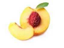 Fruta madura del melocotón Fotos de archivo libres de regalías