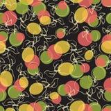 Fruta madura Modelo inconsútil Fotos de archivo