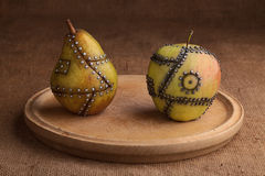 Fruta manipulada Imagen de archivo