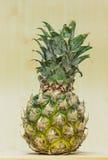 Fruta media, sana cortada piña Imagen de archivo libre de regalías