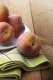 Fruta: Melocotones Imagen de archivo