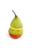 Fruta mezclada con el limón y la manzana de la pera Foto de archivo