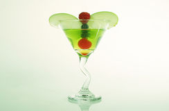 Fruta misturada Martini Fotografia de Stock