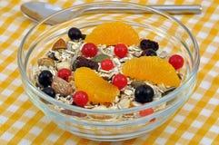 Fruta Muesli Imagenes de archivo