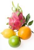 Fruta no fundo branco imagens de stock royalty free