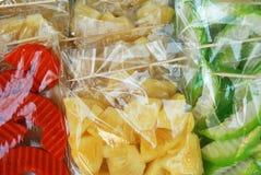 Fruta nos sacos Imagem de Stock Royalty Free