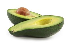 fruta nutritious Abacate-oleosa imagem de stock