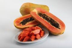 Fruta-papaya Imagen de archivo libre de regalías