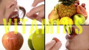 Fruta para una mejor salud almacen de metraje de vídeo