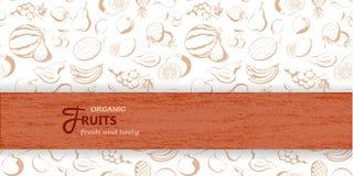 fruta Produtos agrícolas frescos e saborosos Fotografia de Stock Royalty Free