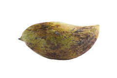 Fruta putrefacta de los mangos en el fondo blanco Foto de archivo