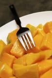 Fruta rebanada del mango Foto de archivo libre de regalías