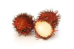 Fruta roja del rambutan Foto de archivo libre de regalías