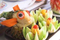 Fruta Scuptures Foto de Stock