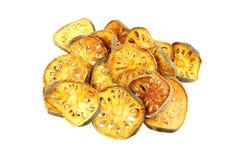 Fruta seca de Bael, marmelos de Aegle Foto de archivo libre de regalías