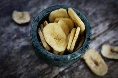 Fruta secada del plátano Foto de archivo
