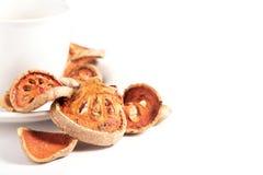 Fruta secada do bael imagem de stock royalty free