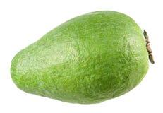 Fruta sin pelar verde del feijoa aislada en blanco Imagen de archivo libre de regalías