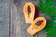 Fruta a solas tropical fresca madura dulce de la papaya Fotografía de archivo libre de regalías