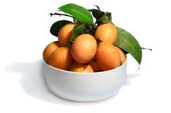 Fruta tailandesa exótica. Maprang, ciruelo mariano imagen de archivo