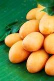 Fruta tailandesa exótica. Maprang, ciruelo mariano, Gandaria Foto de archivo