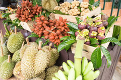 Fruta tailandesa tropical en mercado fotografía de archivo