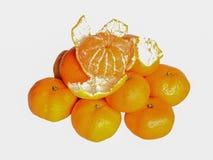 fruta Tangerinas amarelas Fotos de Stock Royalty Free