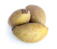 Fruta tropical - Chiku Fotos de Stock Royalty Free