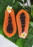 Fruta tropical de la papaya fotografía de archivo libre de regalías