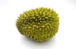 Fruta tropical del Durian en el fondo blanco Rey de frutas con el olor Foto exótica del estudio del durian de la fruta fotos de archivo