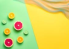 Fruta tropical del verano de la moda Art Concept mínimo imágenes de archivo libres de regalías