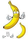 Fruta tropical fresca del plátano en estilo de la historieta Fotografía de archivo libre de regalías