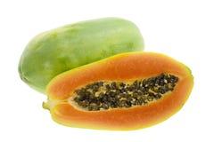 Fruta tropical - papaya Imagenes de archivo