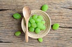 Fruta verde del myrobalan de la salmuera foto de archivo libre de regalías