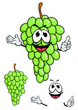 Fruta verde jugosa de la uva en estilo de la historieta Imagenes de archivo