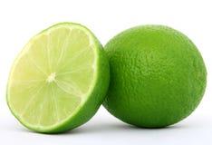 Fruta verde sana de la cal Fotos de archivo