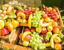 Fruta, verdura y seta artificiales Imágenes de archivo libres de regalías