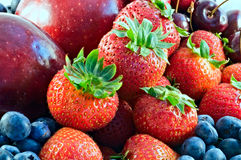 Fruta vermelha do verão Fotografia de Stock Royalty Free