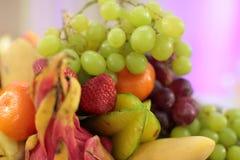 Fruta y bayas maduras Imagen de archivo libre de regalías