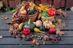 Fruta y calabazas estacionales Imagen de archivo