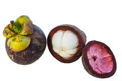 Fruta y carne del mangostán. Imagen de archivo