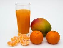 Fruta y jugo imagenes de archivo