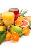 Fruta y jugo maduros Fotos de archivo