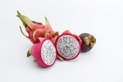 Fruta y mangostán del dragón Imagenes de archivo