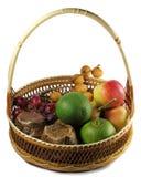 Fruta y postre Foto de archivo libre de regalías