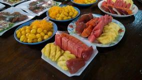 Fruta y postre tailandés Fotos de archivo libres de regalías