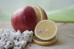Fruta y requesón Imagen de archivo